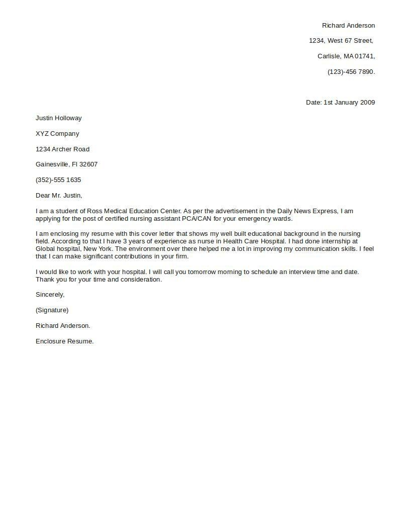 Good Resume Titles Communication Assignment Nursing  Sample Resume Cover Letter