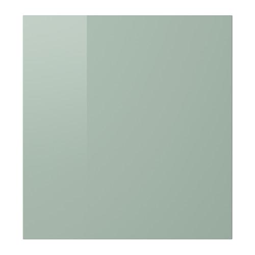 Selsviken Door High Gloss Light Gray Green Ikea