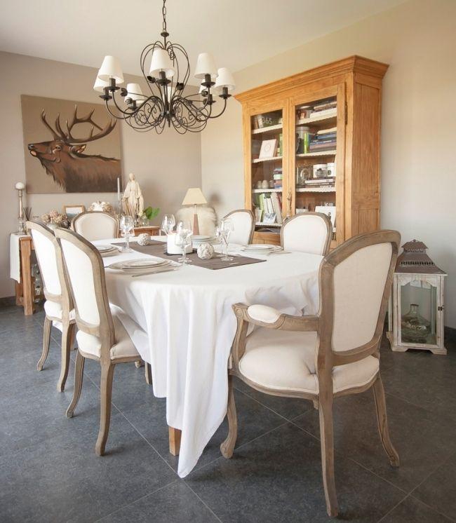 Une demeure nomm e harmonie salle a manger dining room salle manger shabby chic salle - Salle a manger shabby chic ...