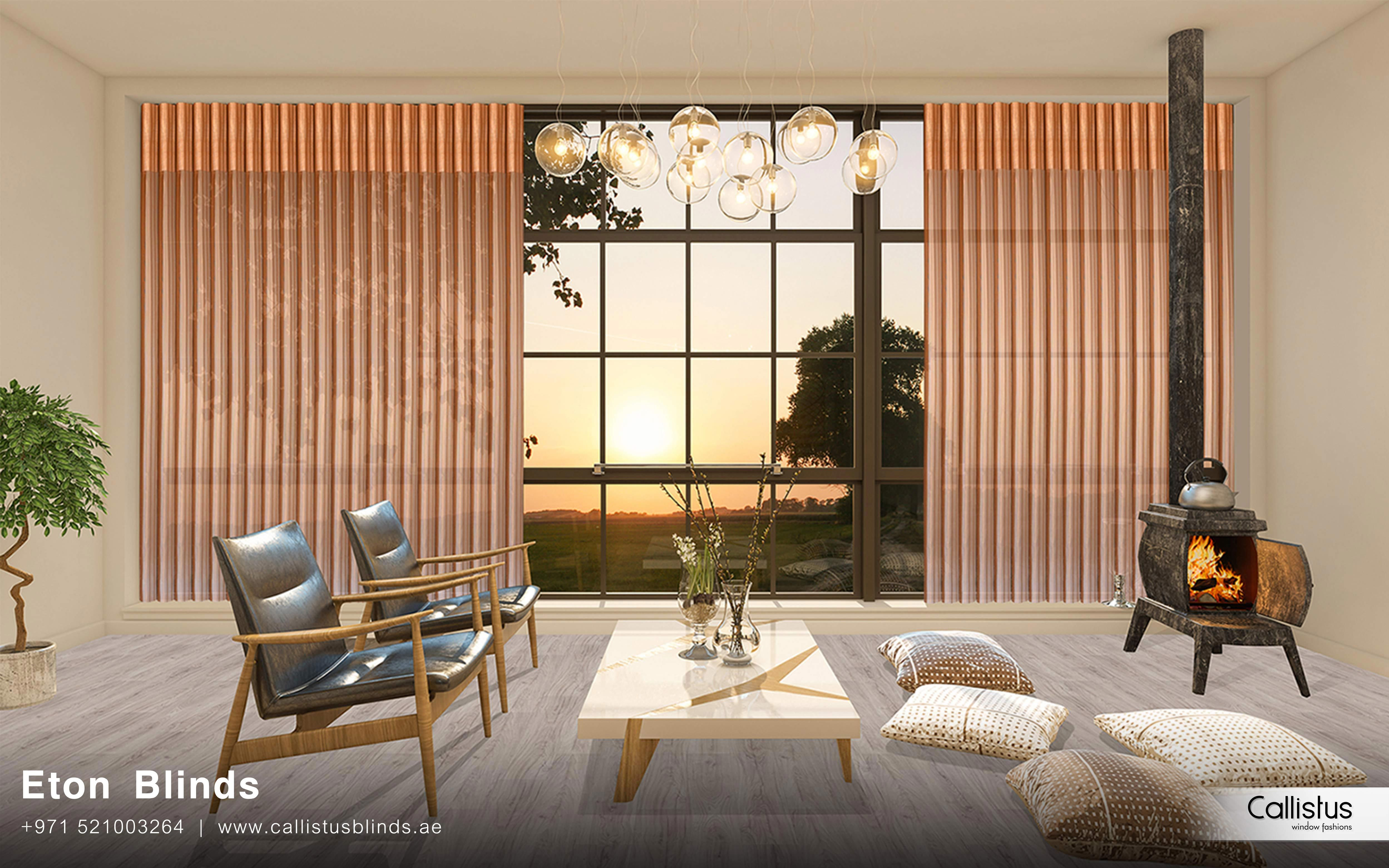 Callistus Eton Blinds Offer A Softly Filtered View Providing