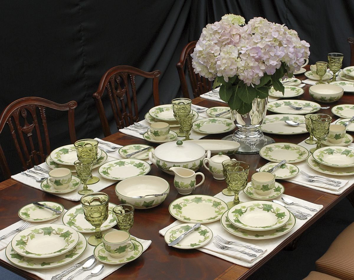 Just like my Franciscan IVY dinnerware from my Grandma -- I collected more so it is now a service for 12 and will be passed down to my granddaughter Ivy ... & Just like my Franciscan IVY dinnerware from my Grandma -- I ...
