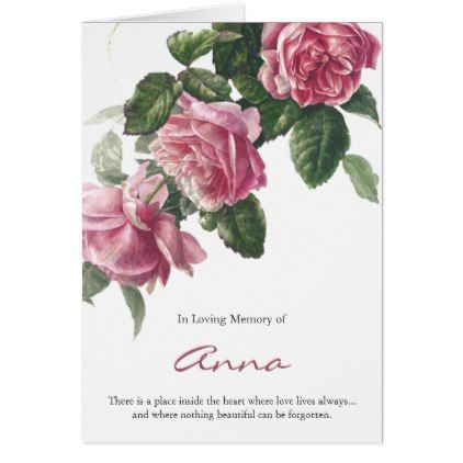 Funeral Thank You Cards Antique Tea Rose Zazzle Com Funeral