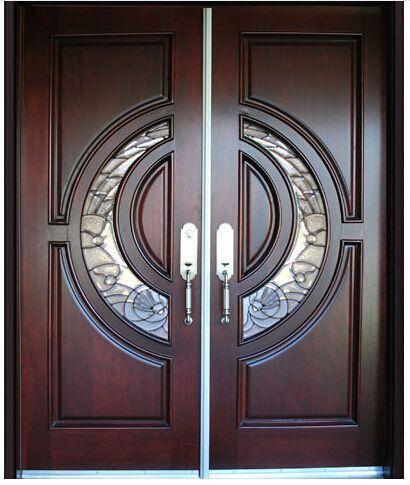 Frontal personalizado cl sica de madera maciza puertas for Puertas dobles de madera exterior
