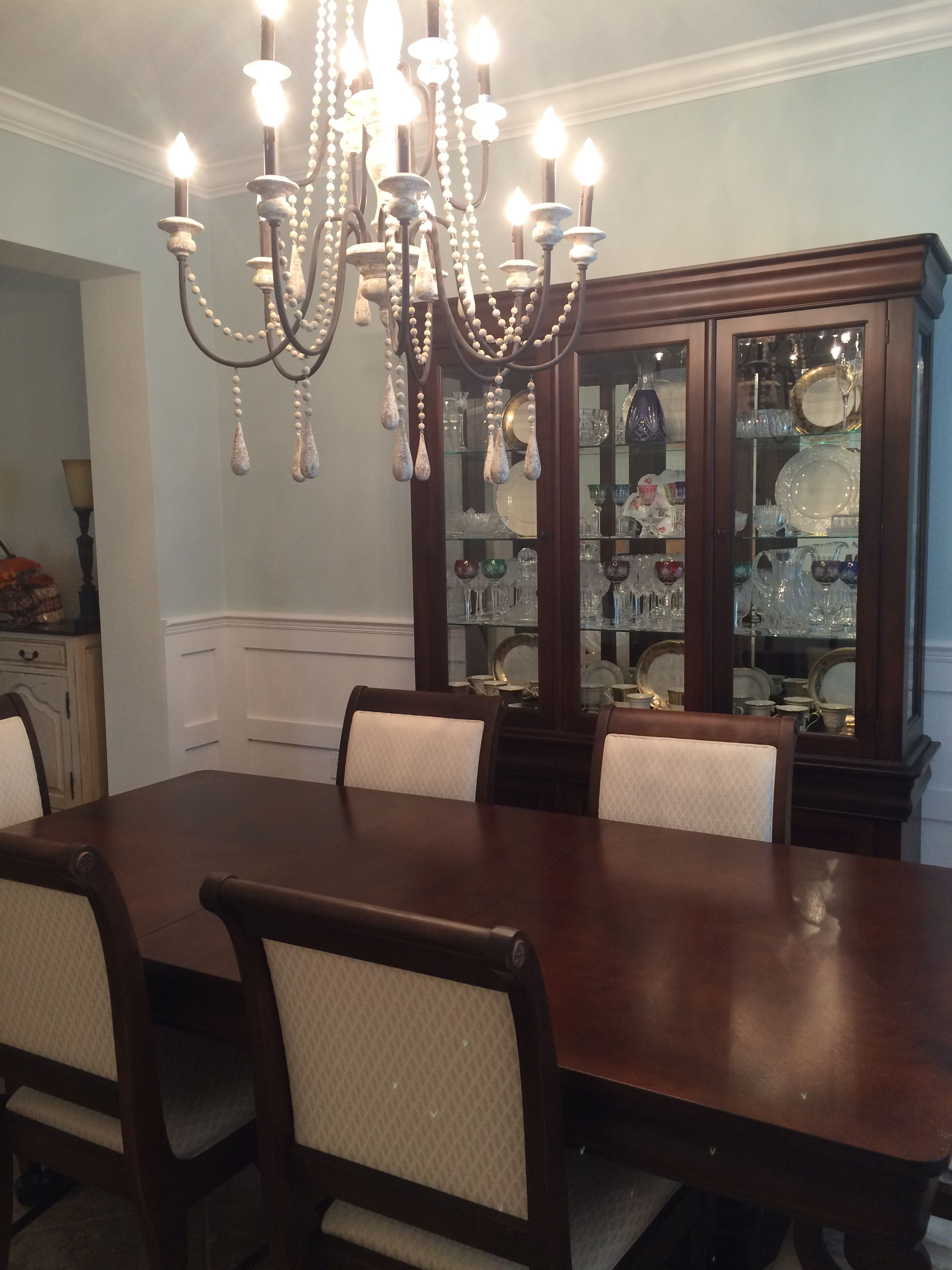 Sherwin Williams Sea Salt On Walls In Dining Room