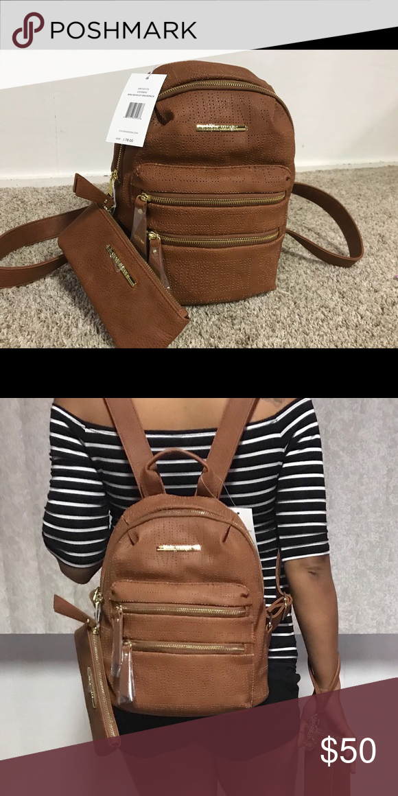 ea4f758a40 Authentic Steve Madden Mini Backpack- Camel Brand new authentic Steve Madden  Mini Backpack in cognac