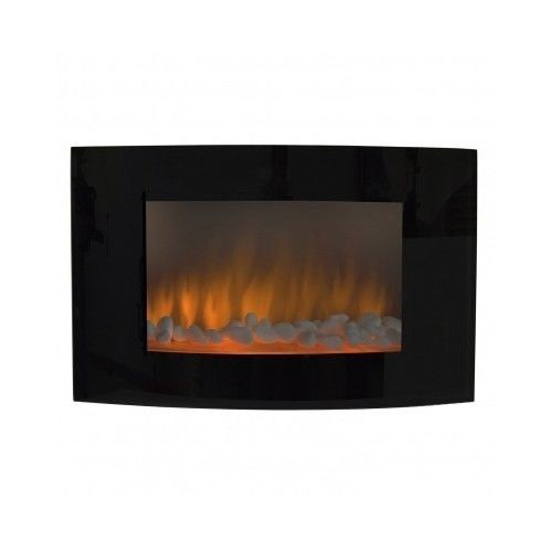 Electric Wall Mount Fireplace Xl Large Screen Mantel Adjustable Heat