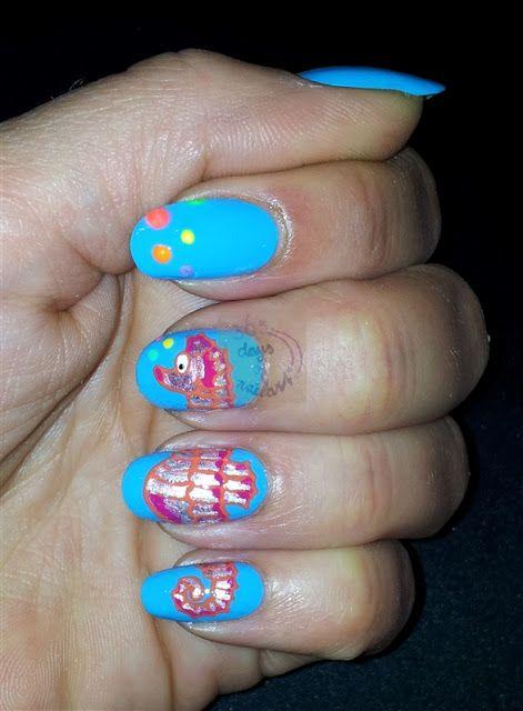 365 days of nail art : 02-06-2013 Nail art seahorse