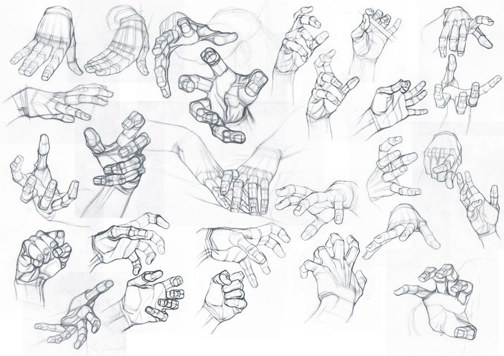 art-res:  drawingden:  Study by StefanoLanza   Nice set of hand references.