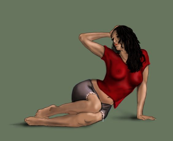 figure study digital sketch