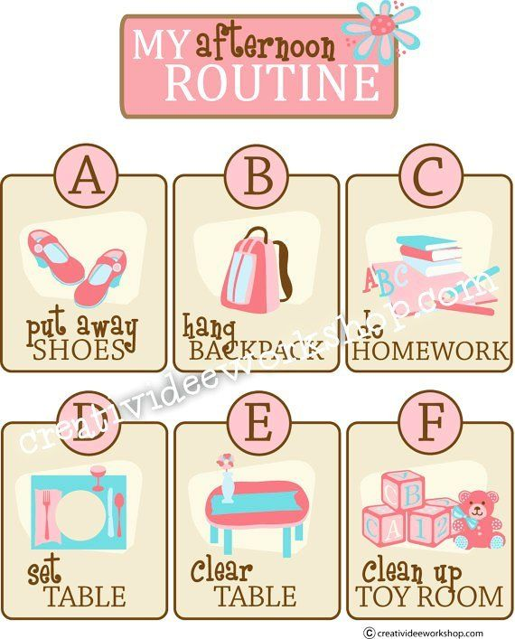 Printable Custom Afternoon/After School Routine Chart ...