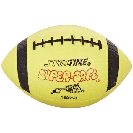 Sportime Super-Safe Youth Football, Yellow/Black, Multicolor