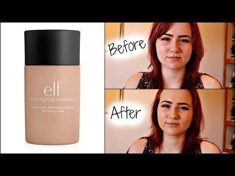 ELF Acne Fighting Foundation│Review & Demo - YouTube | My YouTube ...