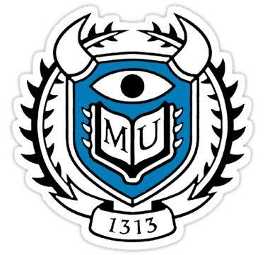 Monsters University Logo Sticker By Merwok In 2020 Monster University University Logo Disney Sticker