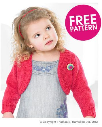 Childrens Shrug Knitting Pattern : Peter Pan Bolero Deramores Craft: Knit Stuff! Pinterest Boleros, Pete...