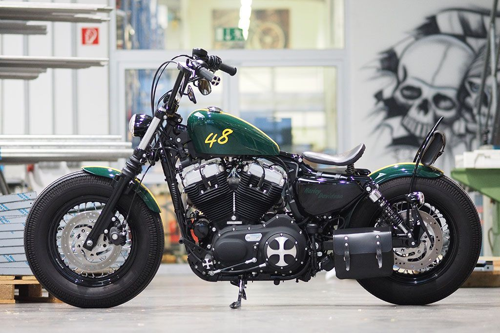 thunderbike green 48 harley davidson sportster 48 umbau. Black Bedroom Furniture Sets. Home Design Ideas