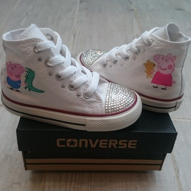 246178814a5 Another pair of Peppa Pig Converse with Crystal toes going out today ...