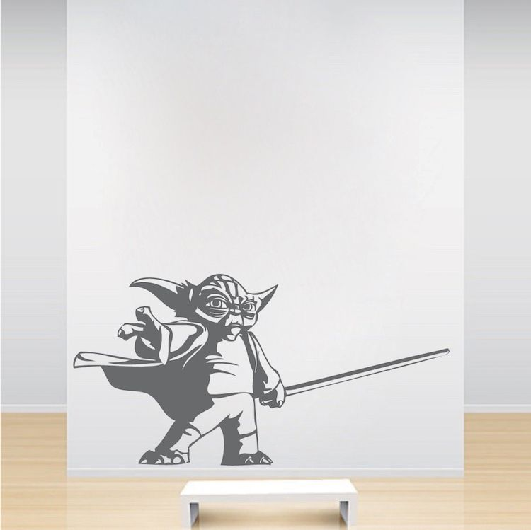 Yoda Wall Decal Sticker _ Yoda Graphics _ Trendywalldesigns & Yoda Wall Decal Sticker | Wall decal sticker Wall decals and Wall ...