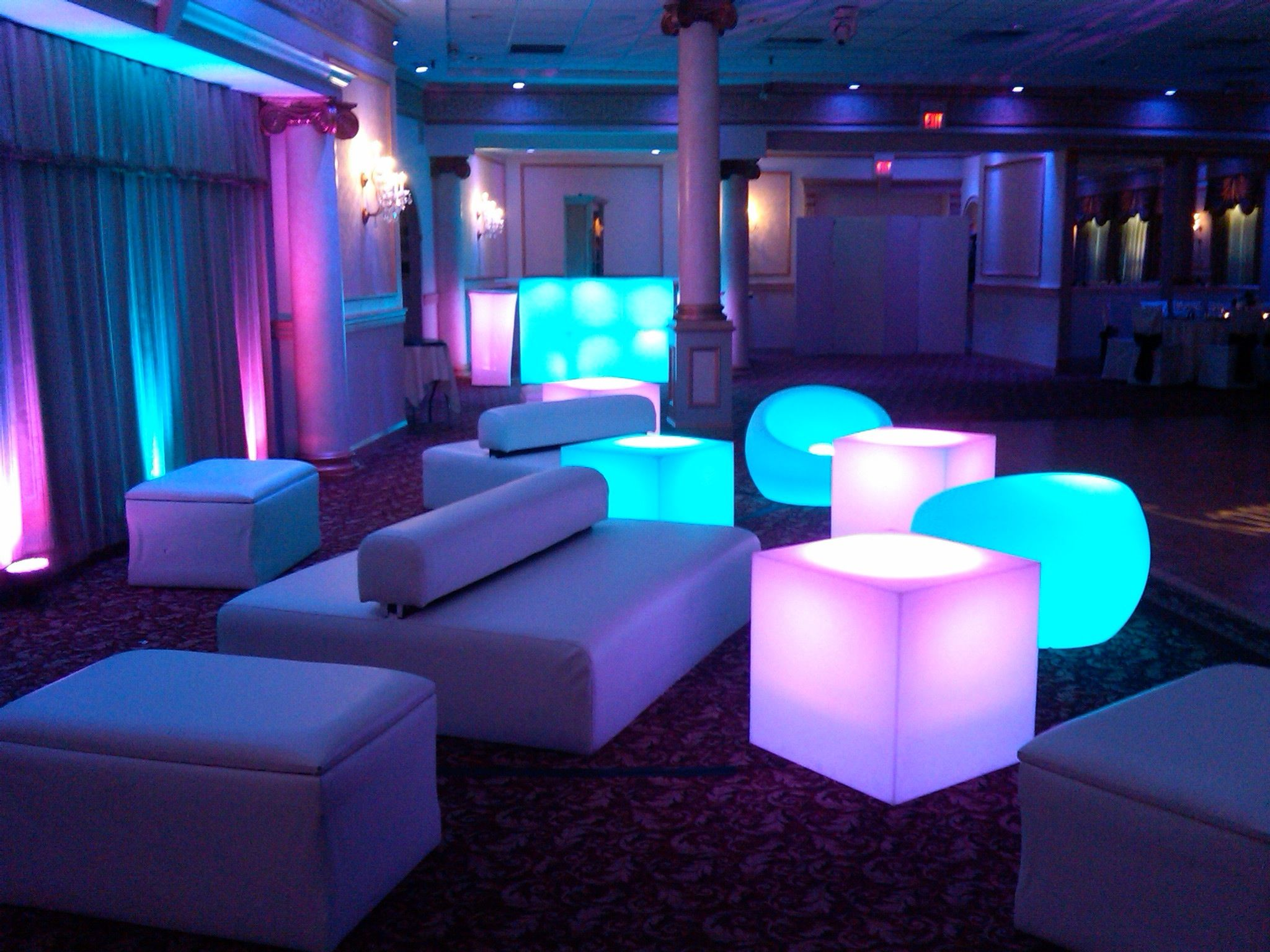 lounge seating for a bat mitzvah quinces sweet sixteen bar mitzvah