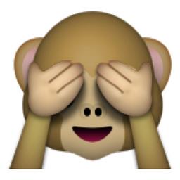 Monkey covering eyes emoji meaning