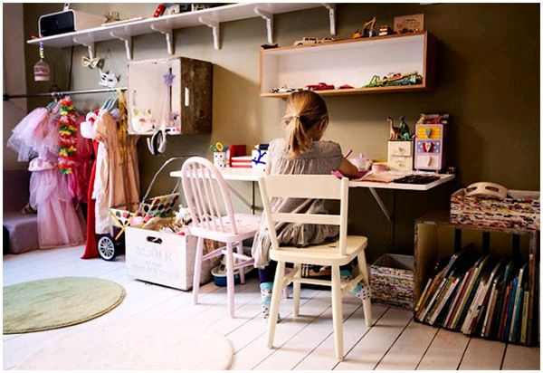 8 ways to drink your tea in peace: Develop a play space in the living room - Hege in France