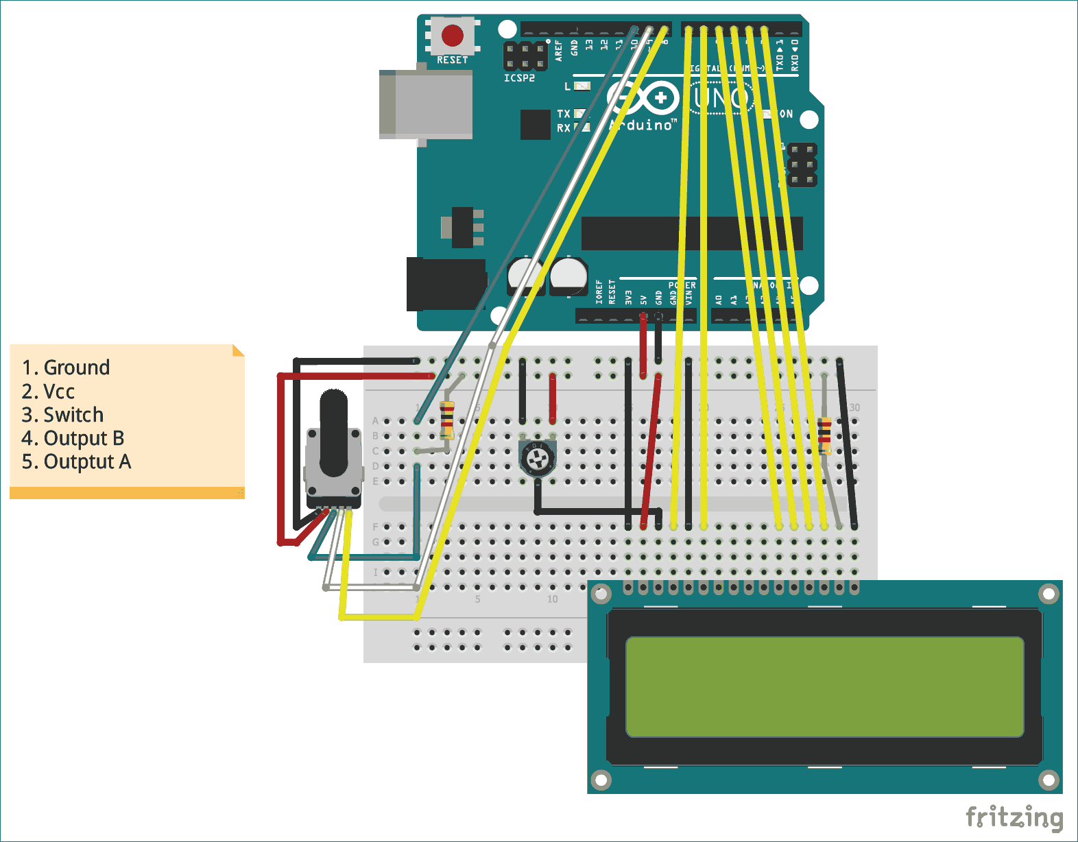 Cool Circuit Projects Diagram For Interfacing Rotary Encoder With Arduino