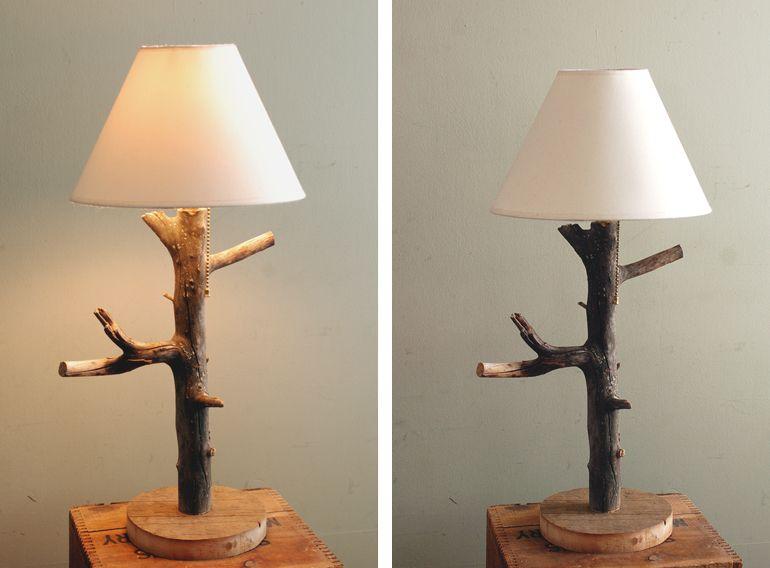Diy Branch Table Lamp Idee Per Decorare La Casa Fai Da Te Legno Idee Lampade Da Comodino