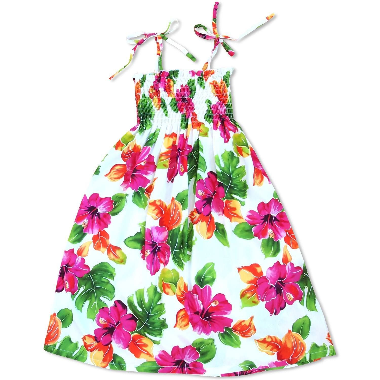 Hoopla White Sunkiss Hawaiian Girl Dress | Hawaiian girls, Girls ...