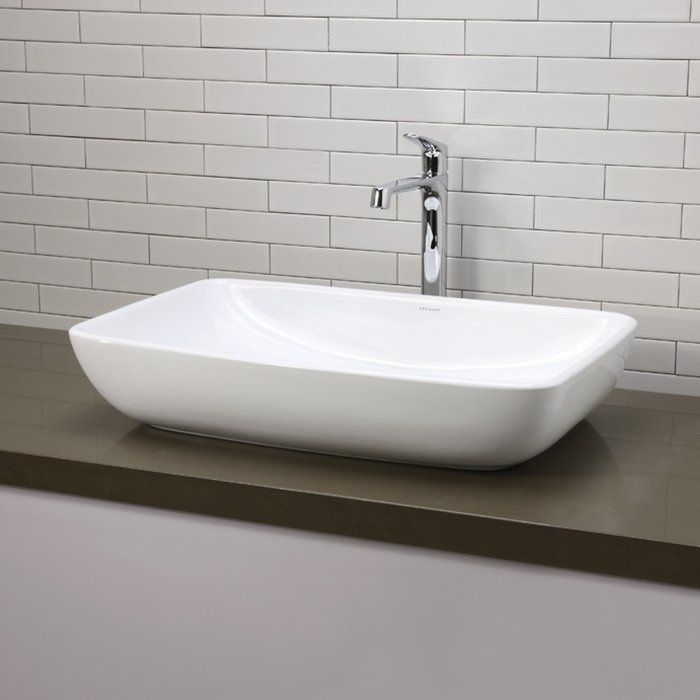 Jasmine Classically Redefined Ceramic Rectangular Vessel Bathroom