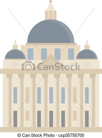 Banque Vectorielle vecteur - résumé, plat, bâtiment, illustration - banque d