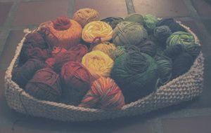 parcel string basket | Knitting | Basket, Knitting, Yarn store