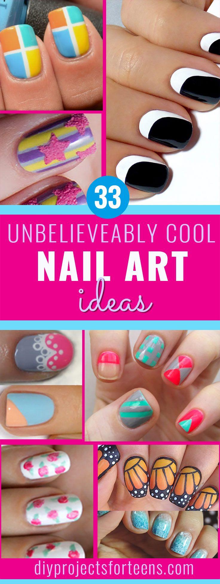 33 unbelievably cool nail art ideas | teen, tutorials and makeup