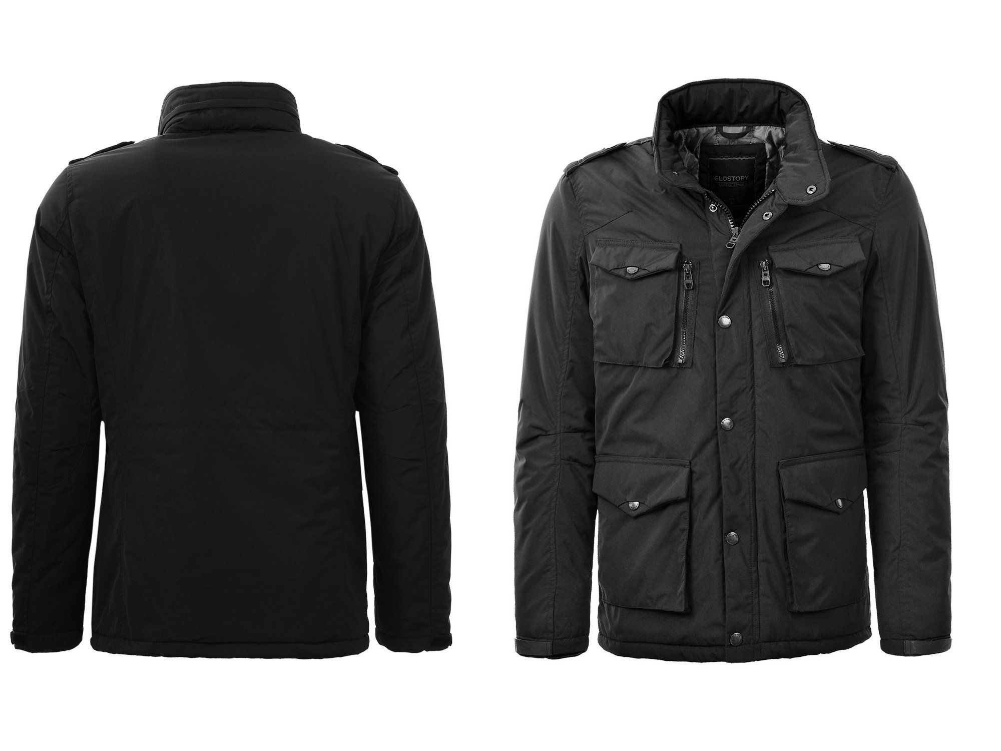 Kurtka Meska Parka Meska Kurtka Elegancka Czarna X 7061991341 Oficjalne Archiwum Allegro Jackets Military Jacket Fashion