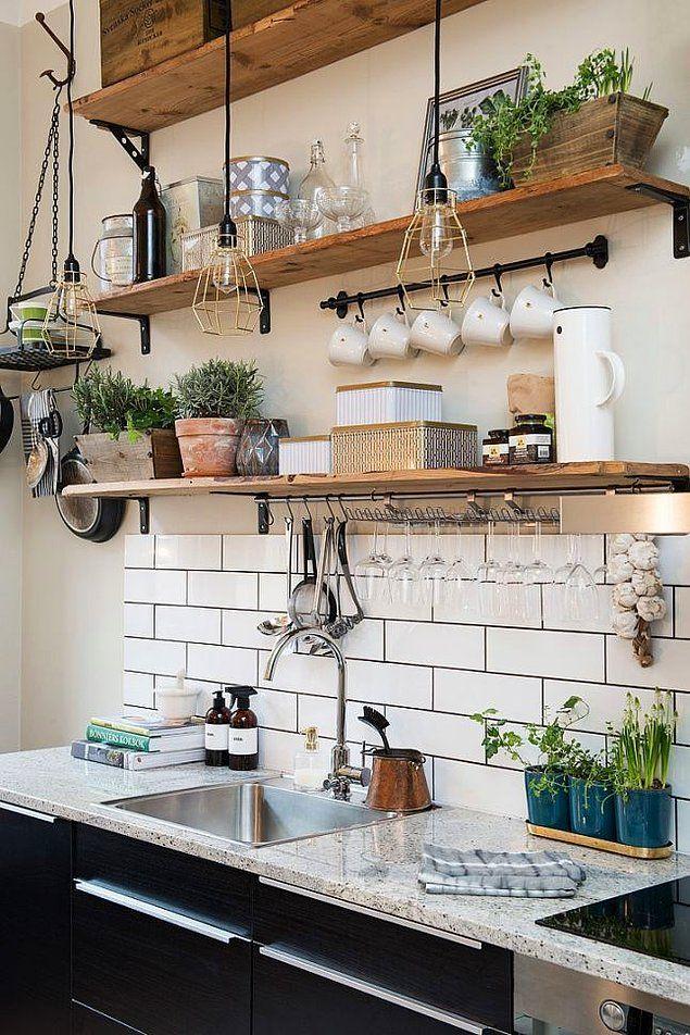 Allahını Seven Üzerime Ankastre Atsın: Farklı Memleketlerden Birbirinden Güzel 30 Mutfak #smallkitchendesigns