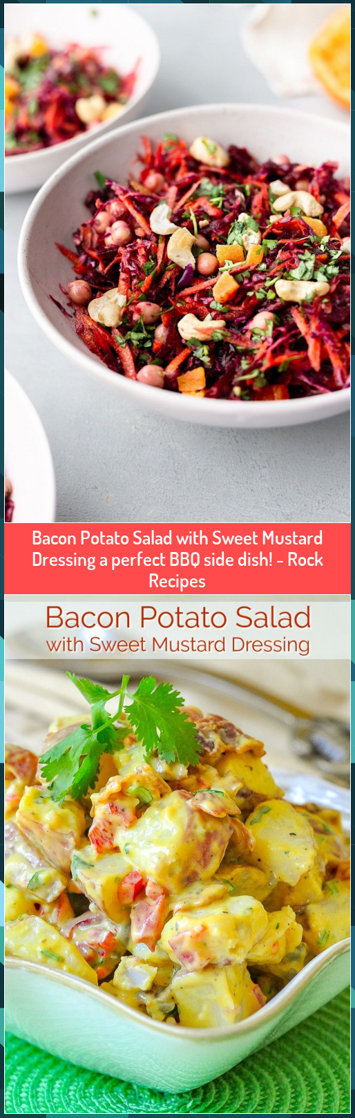 Bacon Potato Salad with Sweet Mustard Dressing a perfect BBQ side dish  Rock Recipes