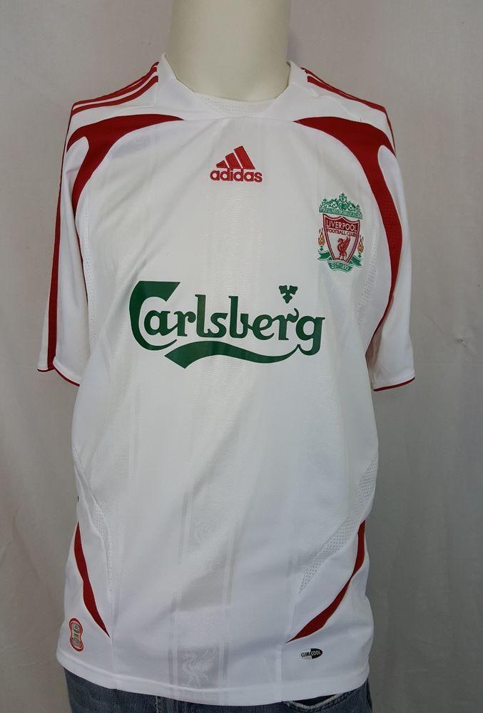 2ae886436 Vintage CARLSBERG Liverpool Football Club Adidas Soccer White Jersey Size  Medium  Adidas  Liverpool  carlsberg  epl  football  soccer