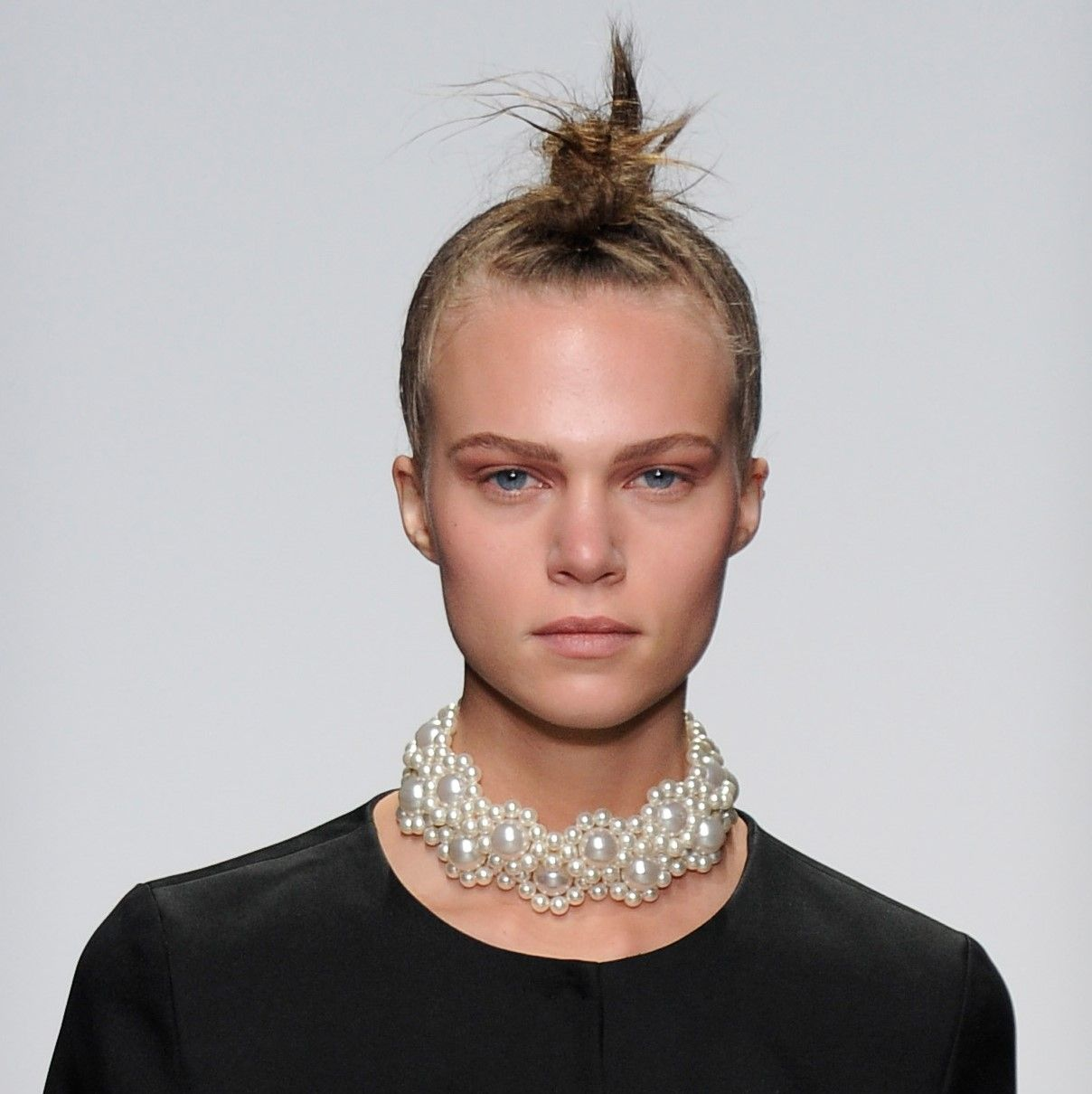 Fantastic spiky and knotted mohawks on show from@Simone_Rocha_ at #LFW today