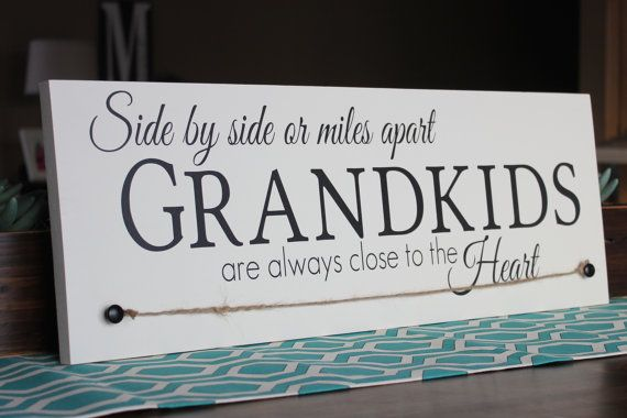 Personalized Painted Grandparents Wood Sign By Wellspokenwood