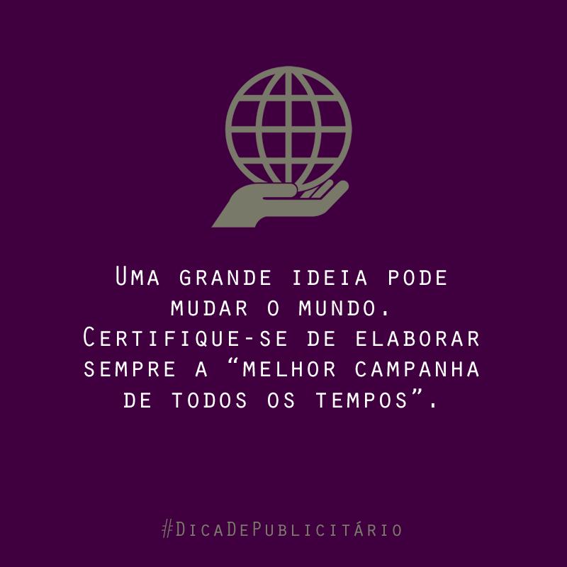 Uma boa dica para todos os publicitários. #FicaDica #DicaDePublicitário #BampDM #Publicidade #Marketing e #Design