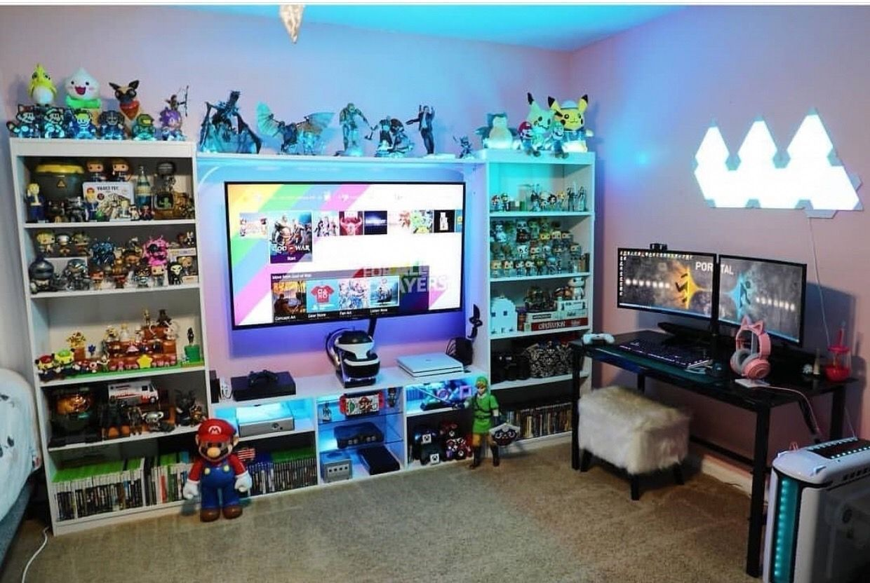 17+ Epic Video Game Room Decoration Ideas for 17 #gameoffice