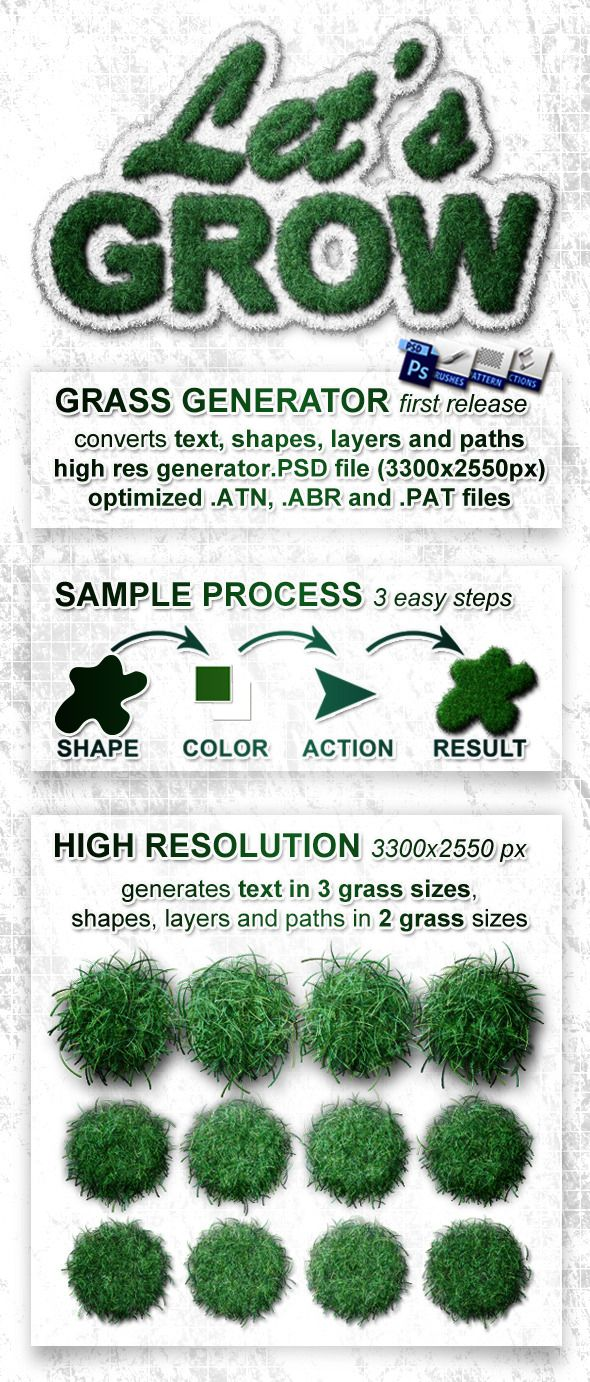 Realistic Grass Generator - Let's Grow - Photoshop Add-ons