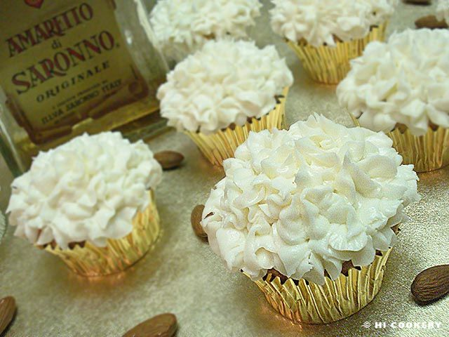 Amaretto Cupcakes. I May Or May Not Have Used 2-3 Times