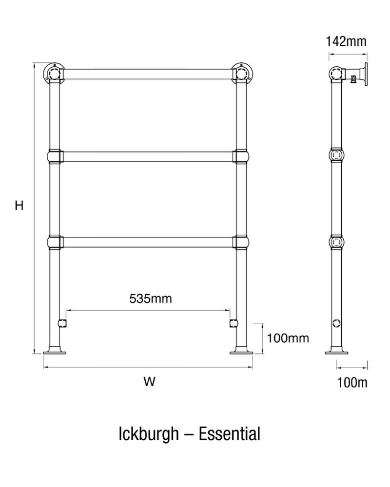 Bathroom dimensions meters - Technical Drawing Ickburgh Ess