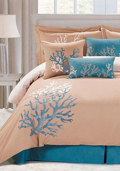 Panama Jack 174 Coral Seas 7 Piece Comforter Set Bedding