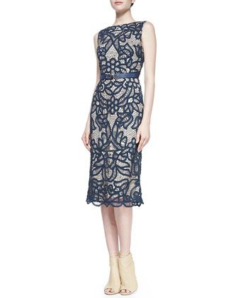 Abigail+Lace+Boat-Neck+Sheath+Dress+by+korovilas+at+Neiman+Marcus. korovilas  Abigail Lace Boat-Neck Sheath Dress  $414.00 FREE SHIPPING FREE RETURNS NMF15_T8GRP