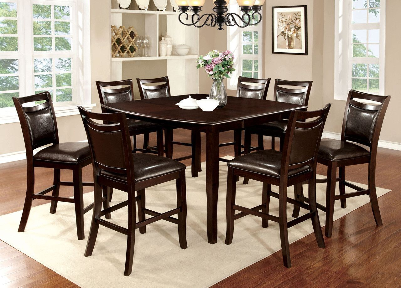 Counter Ht. Table With 6 Chairs 7 Pc. Woodside Ii Collection Cm3024Pt