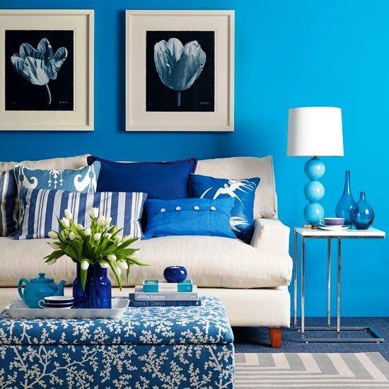 Blue Living Room Ideas 2013 Blue Living Room Small Room Decor Living Room Paint Living room colour schemes 2013