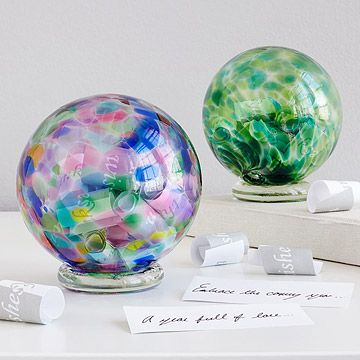Decorative Glass Balls For Bowls Birthstone Wishing Balls  Blown Glass Gratitude And Messages