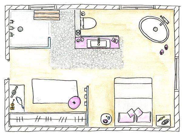 Un Dormitorio Con Vestidor Y Bano Con Banera Y Ducha Dormitorios