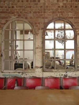 Arched Mirrors That Look Like Windows Found On Thefrenchhouse Co Uk