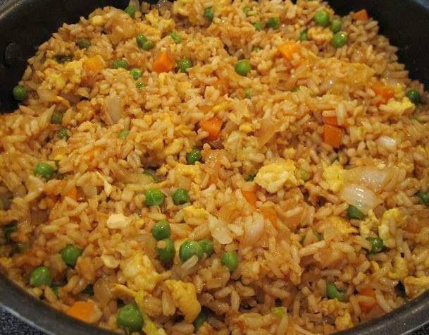 Fried rice 3 cups cooked white rice 1 tbs sesame oil 1 cup frozen fried rice 3 cups cooked white rice 1 tbs sesame oil 1 cup frozen peas and easy ccuart Choice Image